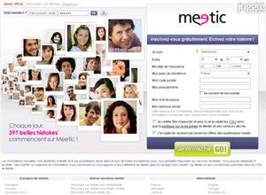 meetic.fr Homepage Screenshot