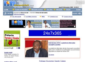 metropolehaiti.com Homepage Screenshot