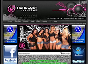 monagascaliente.com Homepage Screenshot