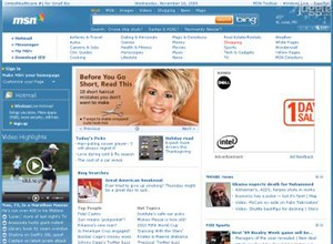 msn.com Homepage Screenshot