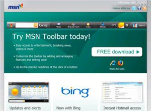 newmsntoolbar.com Homepage Screenshot