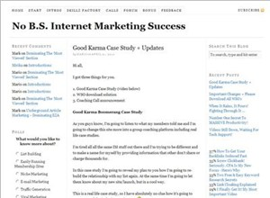 nobsimsuccess.com Homepage Screenshot
