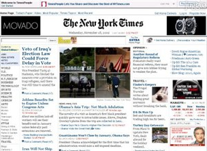 nytimes.com Homepage Screenshot