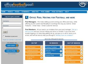 officefootballpool.com Homepage Screenshot