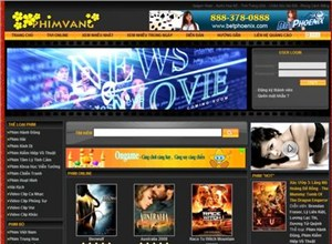 phimvang.com Homepage Screenshot
