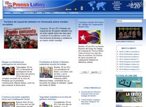 prensa-latina.cu Homepage Screenshot