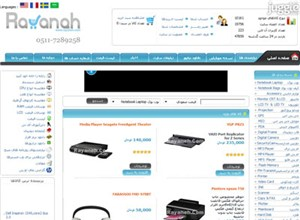 rayaneh.com Homepage Screenshot