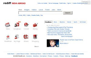 rediff.com Homepage Screenshot