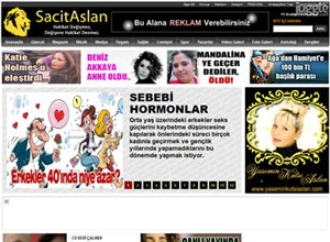 sacitaslan.com Homepage Screenshot