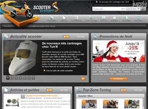 scooter-system.fr Homepage Screenshot