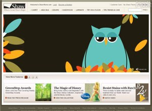 shawfloors.com Homepage Screenshot