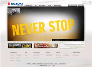 suzukicycles.com Homepage Screenshot