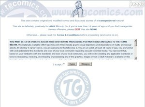 tgcomics.com Homepage Screenshot