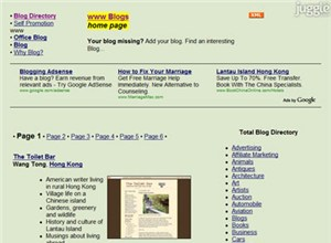 totalblogdirectory.com Homepage Screenshot