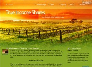 trueincomeonline.com Homepage Screenshot