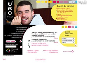 univ-brest.fr Homepage Screenshot