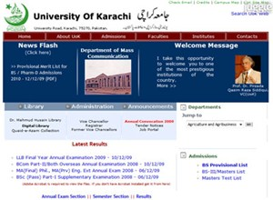 uok.edu.pk Homepage Screenshot