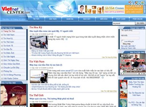 vietnetcenter.com Homepage Screenshot