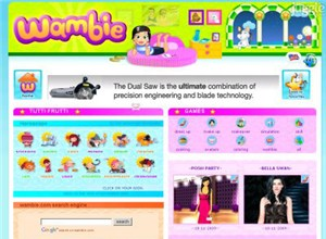 wambie.com Homepage Screenshot