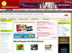 wishafriend.com Homepage Screenshot