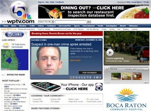 wptv.com Homepage Screenshot