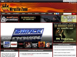 wrestlezone.com Homepage Screenshot