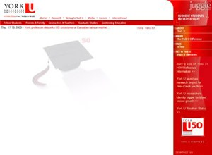 yorku.ca Homepage Screenshot