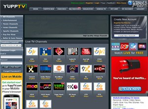 yupptv.com Homepage Screenshot