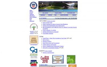 Top Ohio City Government Website Homepage Screenshot
