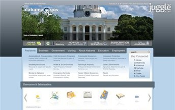 Top Government Website Homepage Screenshot