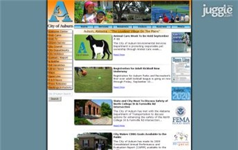 Top Alabama Local Government Websites Homepage Screenshot