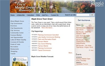 Top Alaska Local Government Websites Homepage Screenshot
