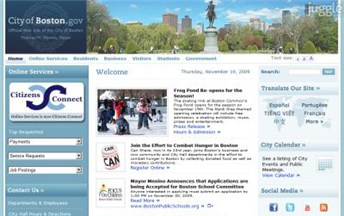 Top City Government Website Homepage Screenshot