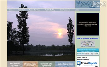 Top Tennessee Local Government Websites Homepage Screenshot