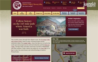 Top National Heritage Websites Homepage Screenshot
