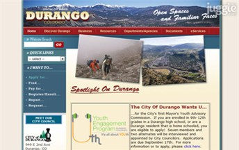 Top Colorado Local Government Websites Homepage Screenshot