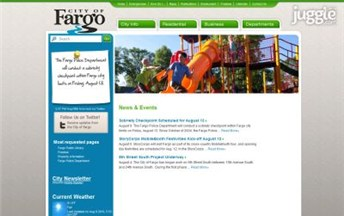 Top North Dakota City Government Website Homepage Screenshot