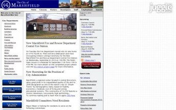 Top Wisconsin City Government Website Homepage Screenshot