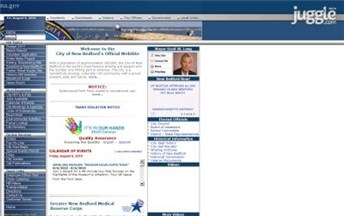 Top Massachusetts City Government Website Homepage Screenshot