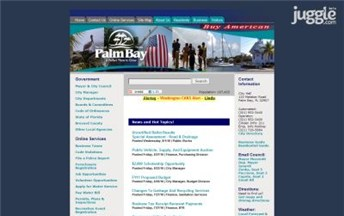 Top Florida City Government Websites Homepage Screenshot