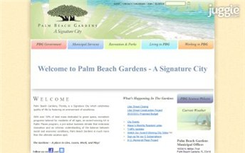 Top Florida Government Websites Homepage Screenshot