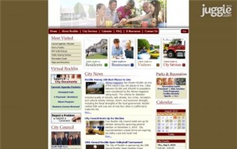 Top California City Government Website Homepage Screenshot