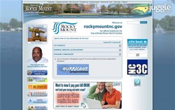 Top North Carolina City Government Websites Homepage Screenshot