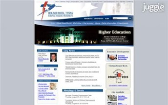 Top Texas City Government Website Homepage Screenshot
