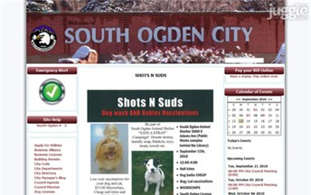Top Utah City Government Websites Homepage Screenshot