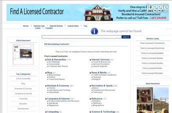 818remodelingcontractor.com Homepage Screenshot