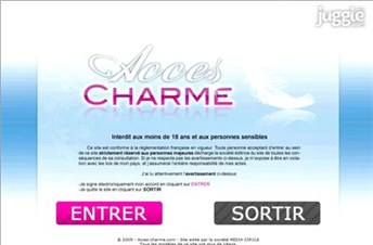 acces-charme.com Homepage Screenshot