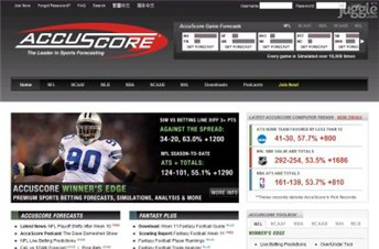 accuscore.com Homepage Screenshot