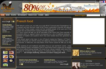 aftouch-cuisine.com Homepage Screenshot
