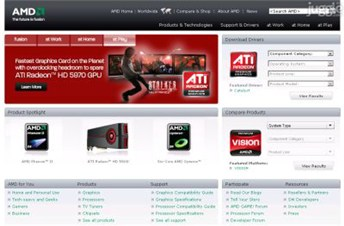 amd.com Homepage Screenshot